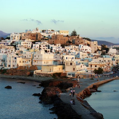 Thraditional style white houses in Naxos, Cyclades
