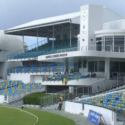 The (Sir) Garfield Sobers Pavilion at the Kensington Oval ground, Bridgetown Barbados