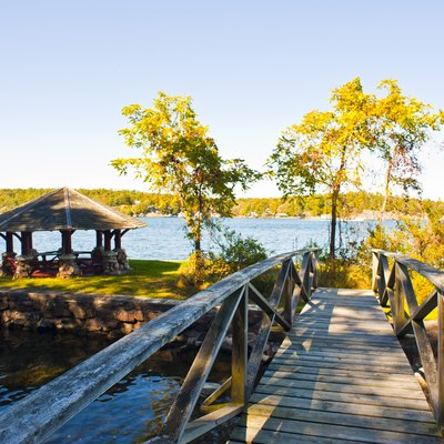 Batterman's Point Gazebo on Hill Island, part of Canada's Thousand Islands National Park