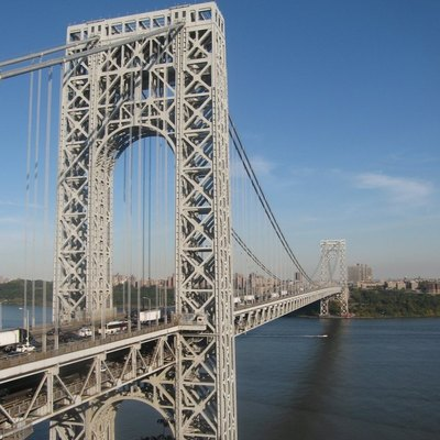 The George Washington Bridge over the Hudson River in New York
