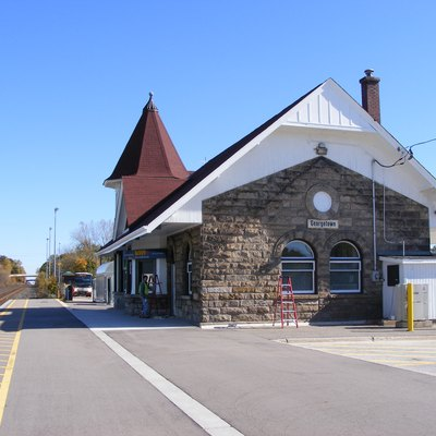 Railway station in Georgetown, Ontario (served by VIA and GO trains).