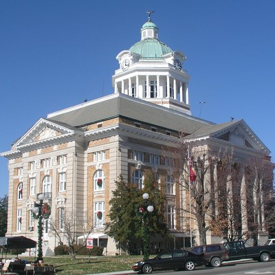 Giles County courthouse in Pulaski, Tennessee, United States