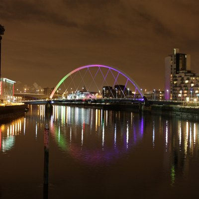 Skyline of the City of Glasgow in Scotland