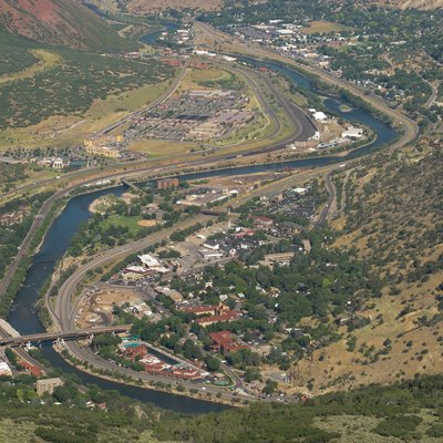 Glenwood springs, viewed from Lookout Mountain