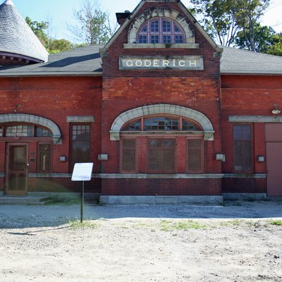 The old CPR station in Goderich, Ontario