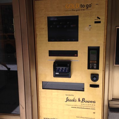 Gold-Vending Atm In Nyc