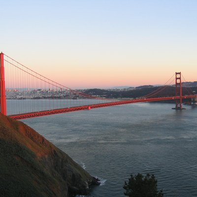 Golden Gate Bridge, from North-West, with San Francisco in the background