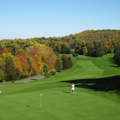 Golf course at Green Lakes State Park, Fayetteville, New York.