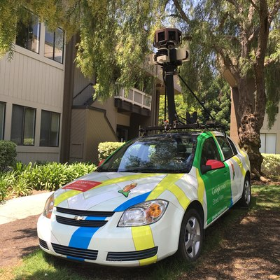 A car used for Google Maps at Googleplex