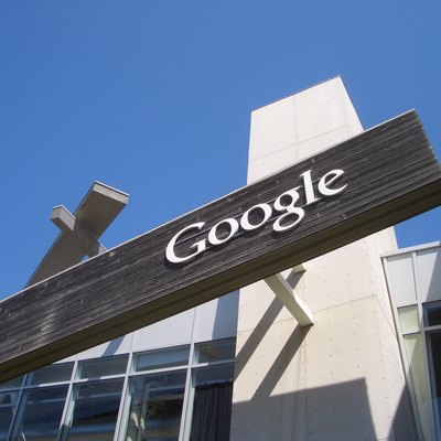 A Google sign from their campus in Mountain View, California.