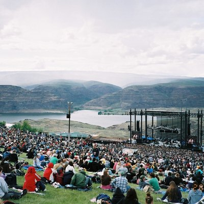 The Gorge Amphitheater In George, Washington Overlooking The Columbia River During The 2006 Sasquatch! Music Festival