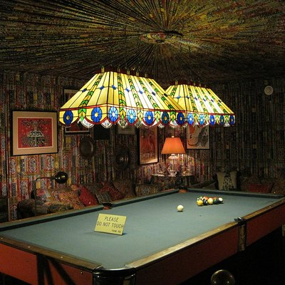 Graceland, Memphis, Tennessee. Pool room