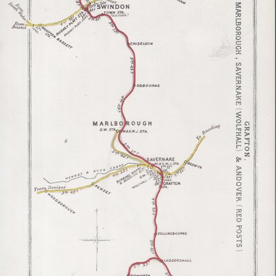 Pre Grouping railway junction around Grafton, Swindon, Marlborough, Savernake (Wolfhall) & Andover (Red Posts)