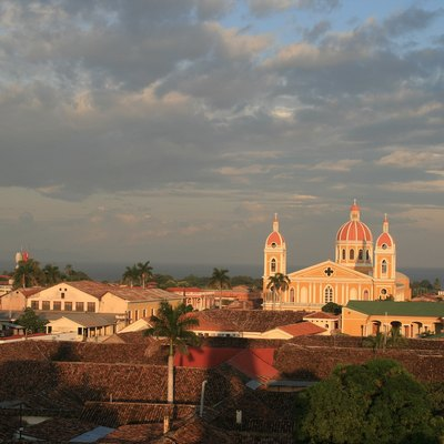 View of Granada, Nicaragua with the Cathedral.
