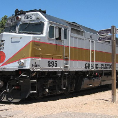 Emd F40Ph Diesel-Electric Locomotive Of The Grand Canyon Railway In Grand Canyon Village.