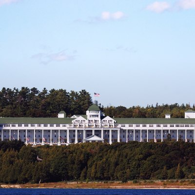 Grand Hotel, Mackinac Island, View From The Lake