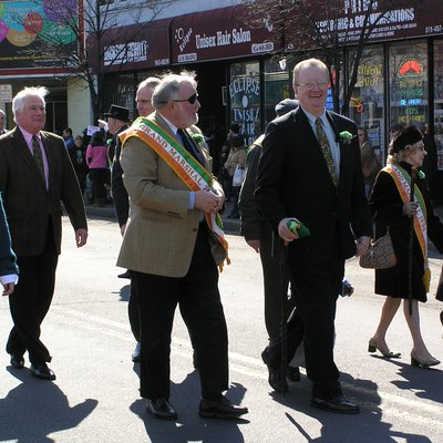 A photograph of the Grand Marshals the 2010 Yonkers Saint Patrick's Day Parade
