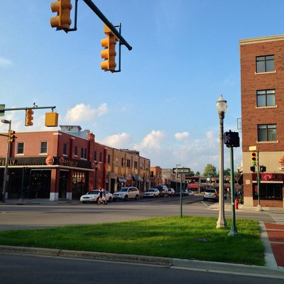 A photo of Grand River Avenue, Downtown East Lansing