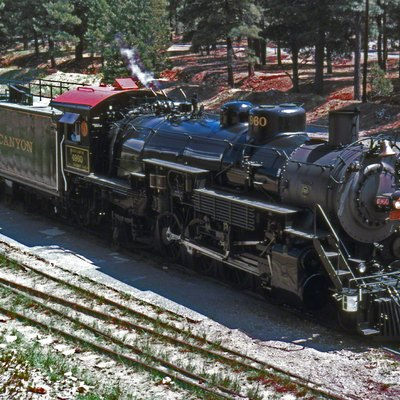 Locomotive No. 4960 at the Grand Canyon Depot.