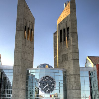 One entryway to the Grant MacEwan University campus in downtown Edmonton, Alberta.