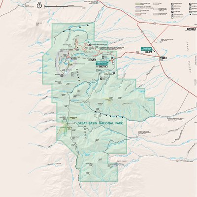 Official National Park Service map — of Great Basin National Park.