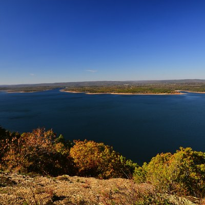 This photo was taken from the The Bluffs at Miller's Point, Greers Ferry Lake