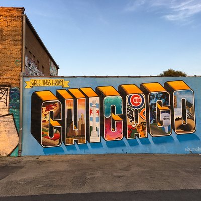 Greetings from Chicago Mural - Logan Square, Chicago