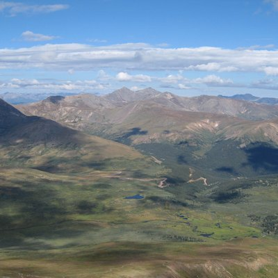 Guanella Pass And Trailhead From Mount Bierstadt. Also Visible Are Square Top Mountain, Mount Wilcox, And Otter Mountain In The Front, Left To Right. Further Back, Argentine Peak And Mount Edwards.