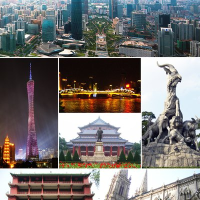 Montage of various Guangzhou images