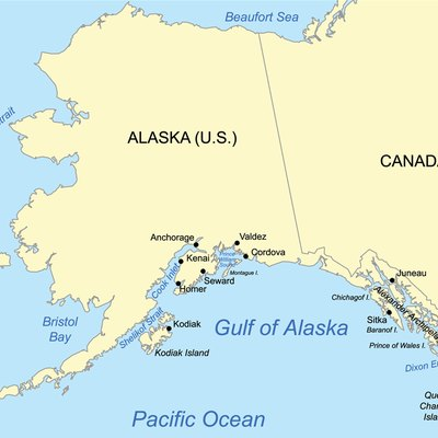 This map of the Gulf of Alaska.