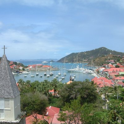The harbour of the island, in Gustavia, Saint-Barthélemy.