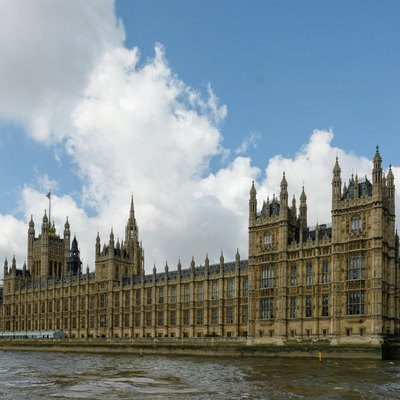 The Palace of Westminster, the seat of the Parliament of the United Kingdom