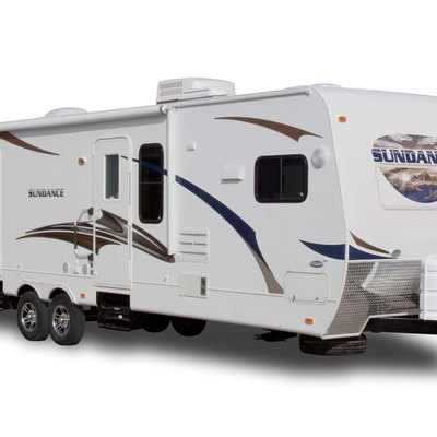 Side profile of a 2011 Sundance travel trailer
