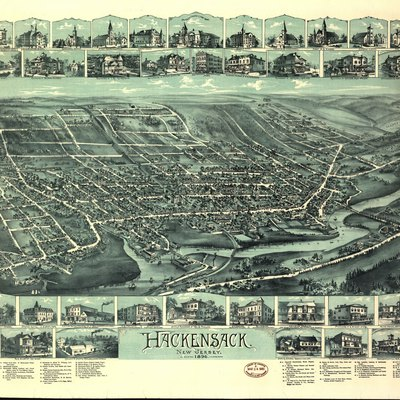 Map of Hackensack, NJ, published 1896