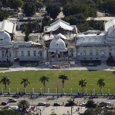 The National Palace following the 2010 Haiti earthquake