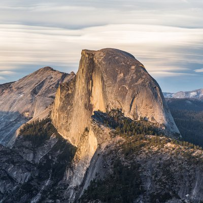 Half Dome as viewed from Glacier Point, Yosemite National Park, California, United States.