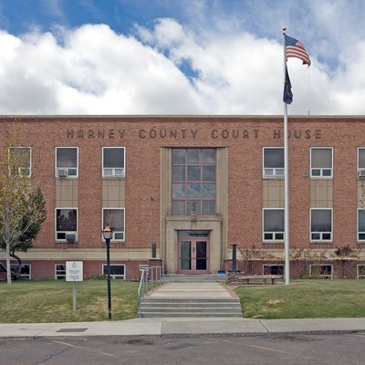Harney County Courthouse in Burns, Oregon.