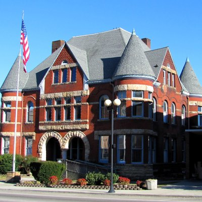 Harriman City Hall in Harriman, Tennessee, USA, built in the early 1890s to house American Temperance University.