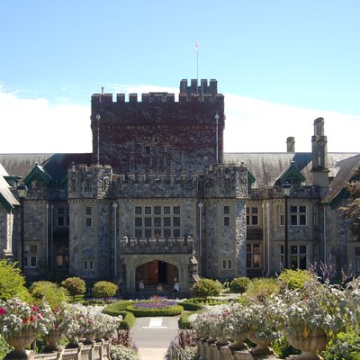 Hatley Castle, near Victoria, British Columbia. The castle has been used as