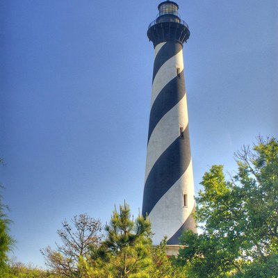 The famous lighthouse on Cape Hatteras.
