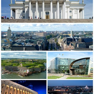 A montage of Helsinki city