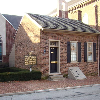 Law office used by Henry Clay from 1803 to 1810 in Lexington, Kentucky. The current address is 176 North Mill Street, Lexington Kentucky.