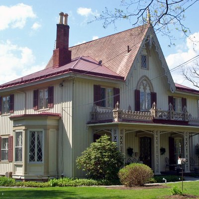The Henry Delamater House, in the Rhinebeck Village Historic District