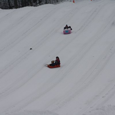 From the Hidden Valley (Pennsylvania) Cornbread 2014 Cardboard Sled Race
