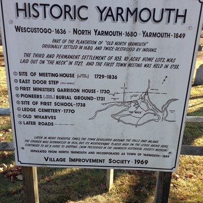 Historic Yarmouth information board, Yarmouth Village Improvement Society