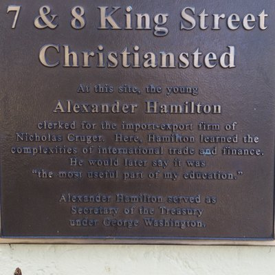 Historical marker for Alexander Hamilton, Christiansted, St. Croix