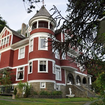 Hoquiam's Castle, 515 Chenault Avenue, Hoquiam, Washington, USA. The 20 room mansion, built 1897, is on the National Register of Historic Places, and now functions as a bed and breakfast.