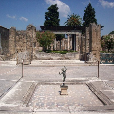 House Of The Faun In Pompeii, Italy