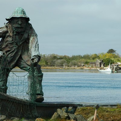 Fisherman's Memorial Statue located at the western edge of Woodley Island on Humboldt Bay in Eureka, California