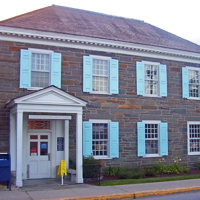 Post Office In Hyde Park, Ny, Usa.